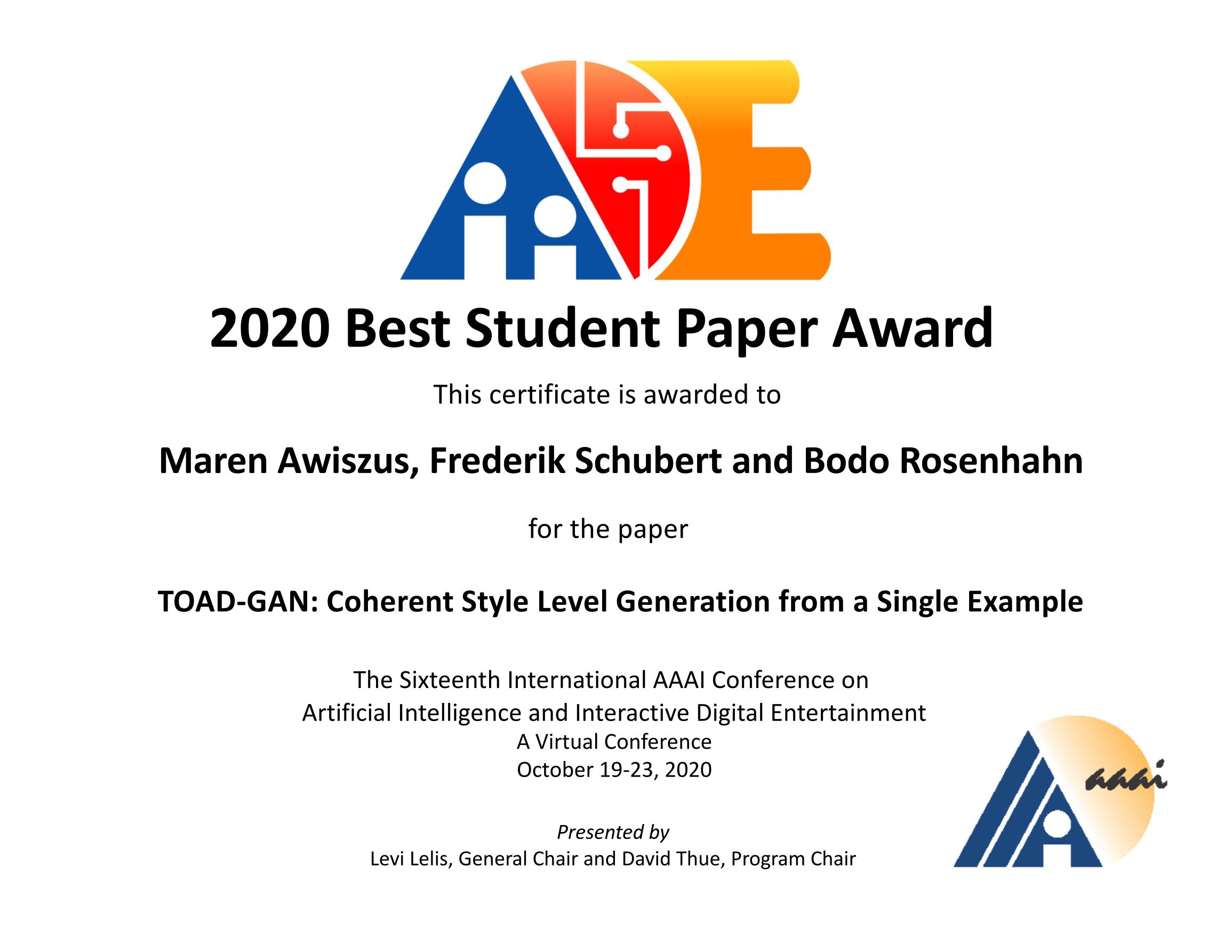 AwardeeMaren Awiszus, Frederik Schubert and Bodo Rosenhahn