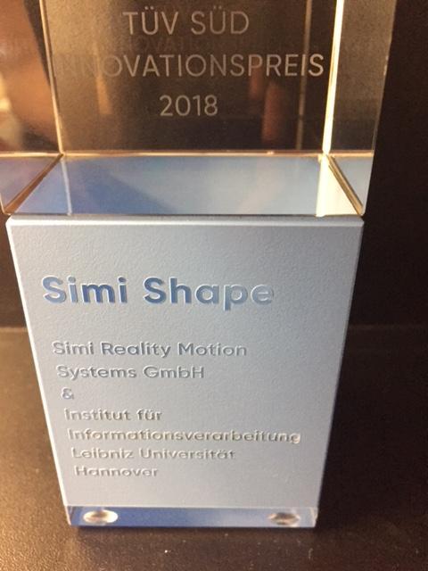 AwardeeSimi Reality Motion Systems GmbH (Philipp Russ) und das Institut für Informationsverarbeitung (Bodo Rosenhahn)