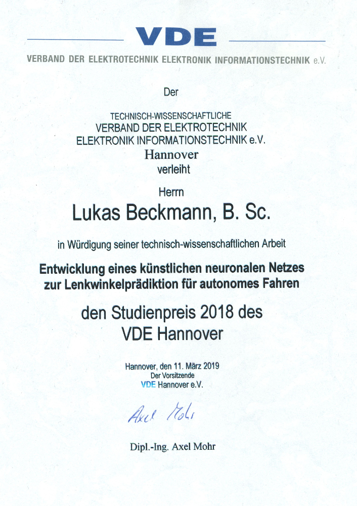 AwardeeLukas Beckmann